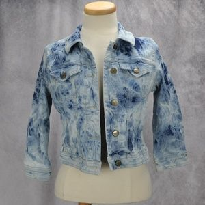 BDG Tie Dyed Classic Cut Button Up Denim Jacket